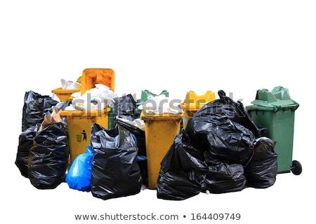 hulladék · szatyrok · izolált · fehér · háttér · takarítás - stock fotó © galitskaya
