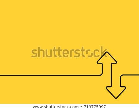 Dos lineal flechas hasta abajo icono Foto stock © kyryloff
