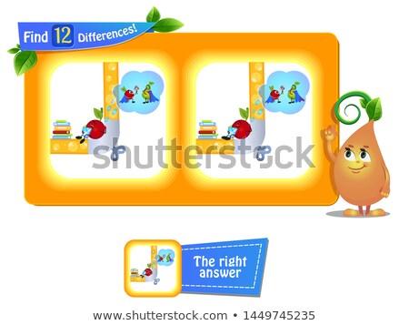 12 différences drôle fruits rêves jeu Photo stock © Olena