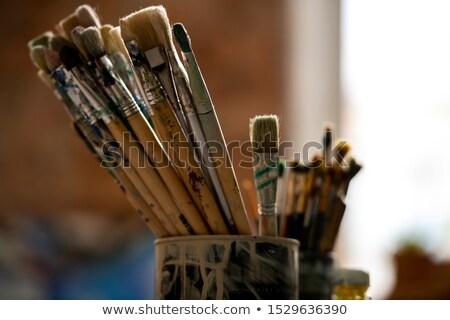 Ayarlamak profesyonel boyama kalay can Stok fotoğraf © pressmaster