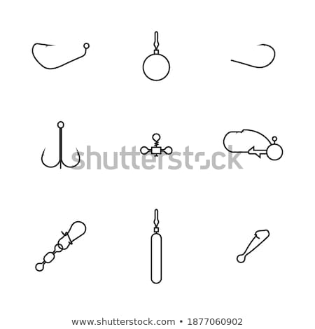 Stock fotó: Set Of Various Snaps Hooked With Swivels Vector Illustration