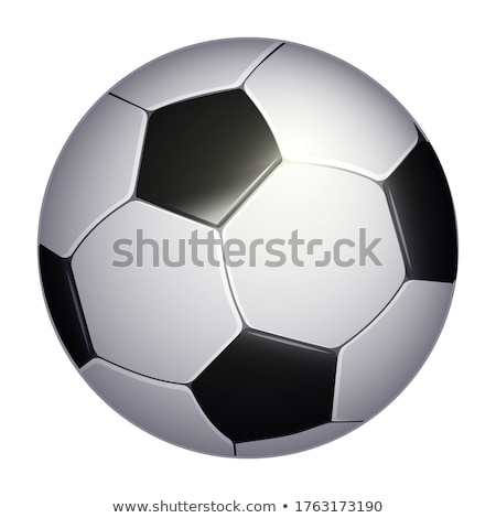 Soccer ball isolated on white background. Sport icon or design element. World or Europe championship Stock photo © Iaroslava