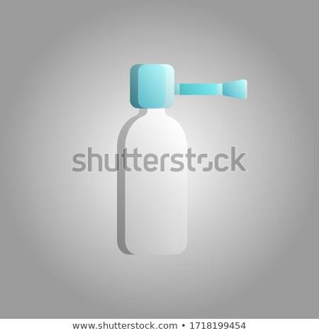Spray ikon gyógyszeripari termék szimbólum gyógyszertár Stock fotó © Imaagio