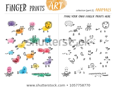 differences coloring game with farm animal characters stock photo © izakowski