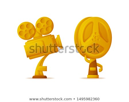 Trophy in Form of Camera and Bobbin Reel Icons Set Stock photo © robuart