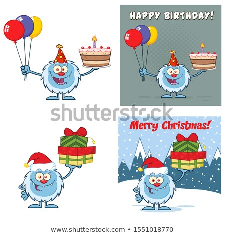 Cute Yeti Cartoon Mascot Character Set 12. Vector Collection Stock photo © hittoon