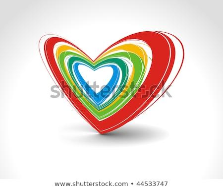 forma · de · coração · mãos · em · torno · de · vermelho · amor · mulher - foto stock © zela