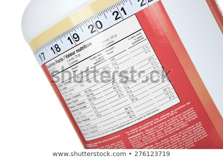 A big bottle of protein nutrition facts Stock photo © Lopolo