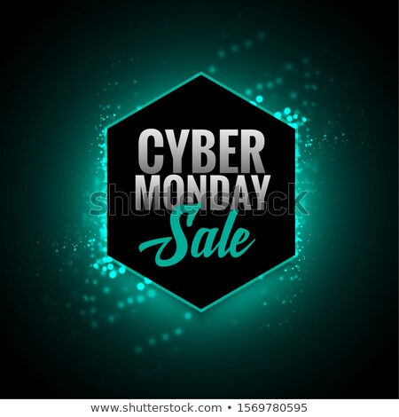 attractive cyber monday sale glowing background design Stock photo © SArts