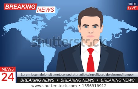 A newspaper on a desk with the headline Breaking News Stock photo © Zerbor