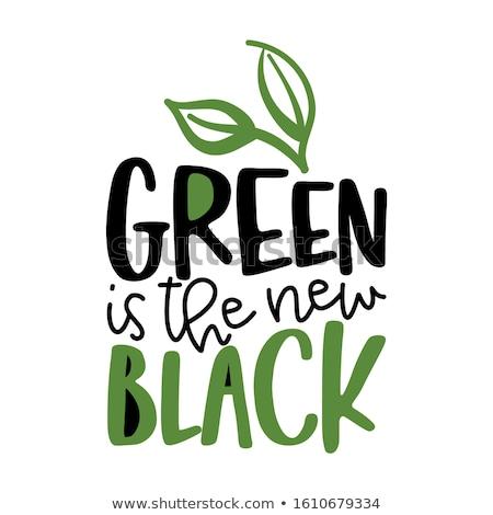 Verde nuevos negro texto comillas hojas Foto stock © Zsuskaa