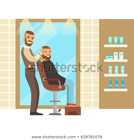 Professional Male and Client, Barbershop Vector Stock photo © robuart