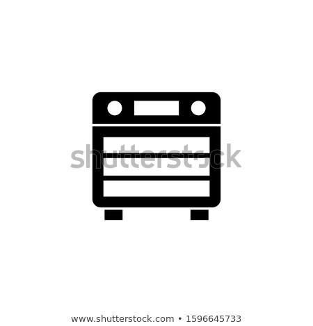 черный холодильнике Кнопки большой современных холодильник Сток-фото © robuart