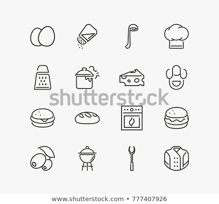 Housekeeping services - vector line design style icons set Stock photo © Decorwithme