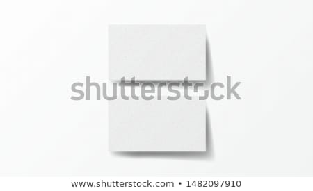 Vector Stack Of Business Cards Mockup Stock photo © solarseven