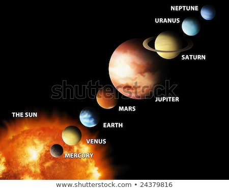 Diagram showing the solar system Stock photo © bluering