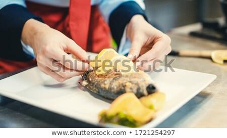 Głowie kucharz restauracji żywności naczyń wkrótce Zdjęcia stock © Kzenon