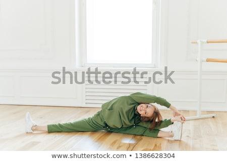 Fotoğraf genç ince jimnastikçi bacak vücut Stok fotoğraf © vkstudio