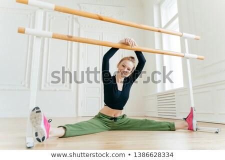Vízszintes kilátás elégedett női táncos láb Stock fotó © vkstudio