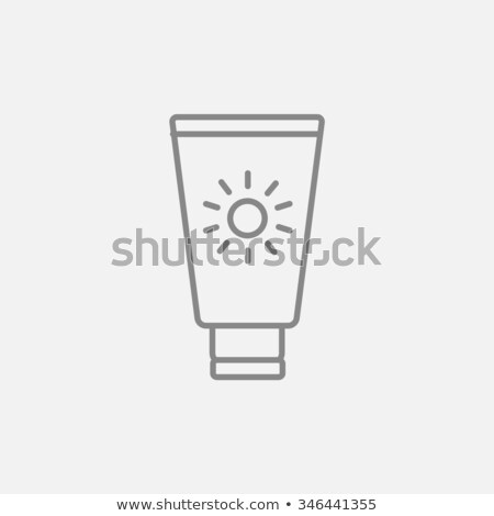 Sunscreen Icon Vector Outline Illustration Stock photo © pikepicture