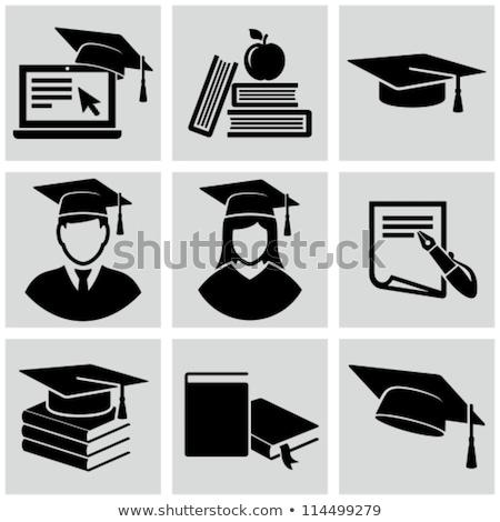 Főiskola érettségi kalap ceruza fotó pénz Stock fotó © AndreyPopov
