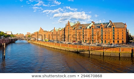The red warehouses in the Speicherstadt  Stock photo © elxeneize