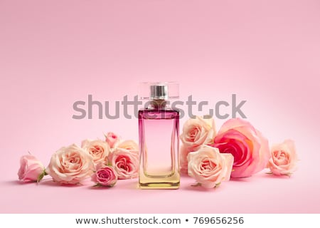 Stock photo: Perfume bottle with aromatic floral scent, luxury fragrance