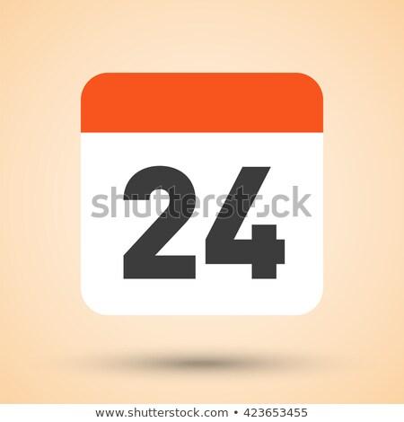 Proste czarny kalendarza ikona 24 data Zdjęcia stock © evgeny89
