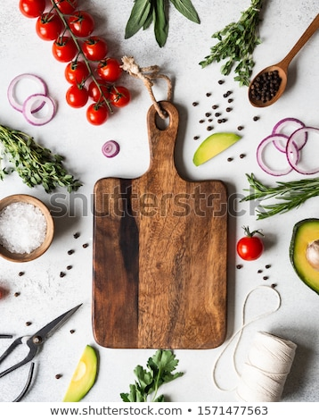 料理 材料 石 先頭 表示 ストックフォト © karandaev