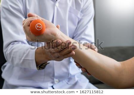 инструктор старший осуществлять клинике мышцы Сток-фото © snowing