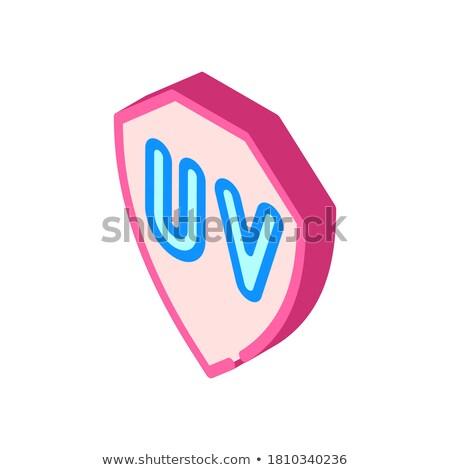 Uv proteção isométrica ícone vetor assinar Foto stock © pikepicture