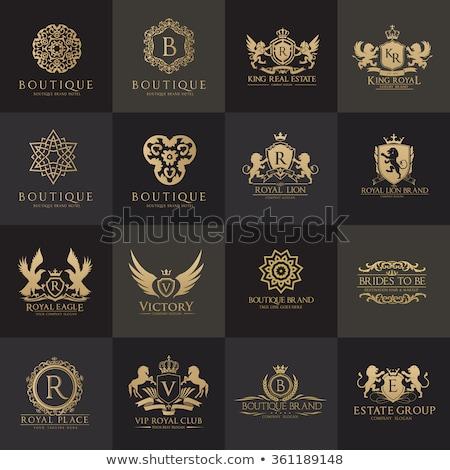 роскошь Логотипы Vintage стиль Сток-фото © blue-pen
