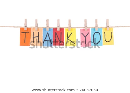 Thank you, words hang by wooden peg  stock photo © Ansonstock