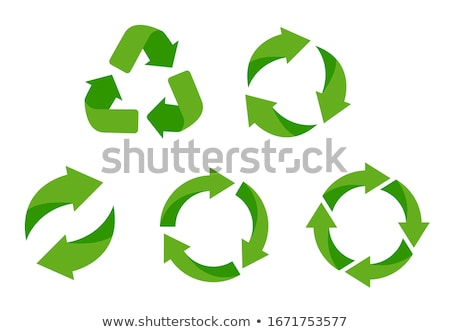labels badges and stickers with recycle icons stock photo © orson