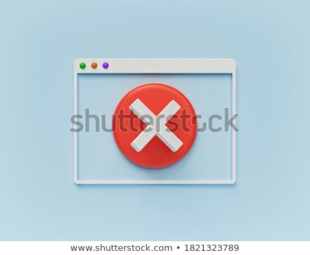 Photo stock: 3D · erreur · signe · rouge · technologie