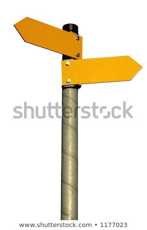 amarillo · dirección · signo · aislado · blanco - foto stock © gewoldi
