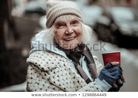 Evsiz kadın yoksul sarhoş soğuk hava durumu Stok fotoğraf © smithore