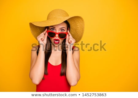 女性 帽子 海 セクシー ストックフォト © borna_mir