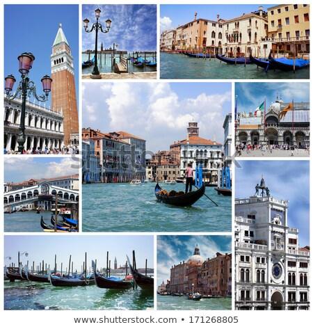 Italië · Venetië · dun · kanaal · gebouw · zee - stockfoto © gant