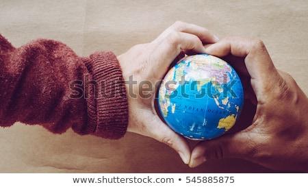 donner · homme · mot · cadeau · présents - photo stock © morrbyte