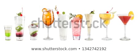 Cocktail Glass collection - Punch Stock photo © karandaev