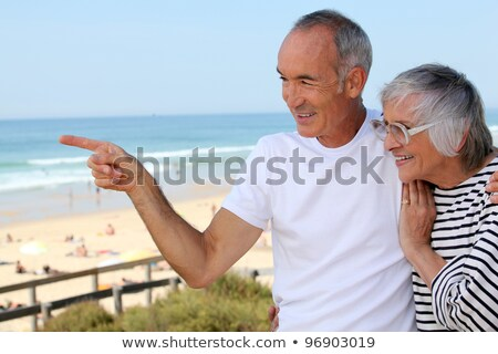 Older couple on the prom Stock photo © photography33