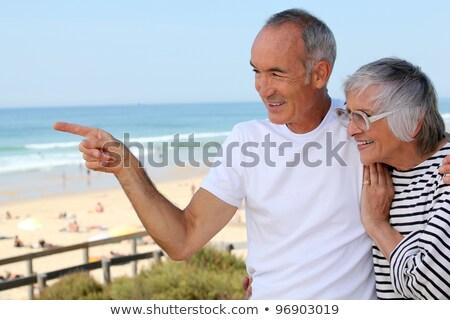 Ouder paar prom liefde achtergrond vrouwelijke Stockfoto © photography33