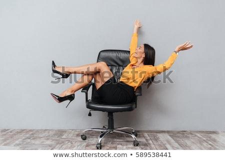 Jeunes affaires secrétaire femme président séance Photo stock © Rebirth3d