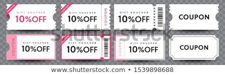 Stock photo: Vector vintage sale coupons