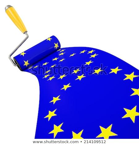 Europa · grunge · bandiera · vecchio · vintage - foto d'archivio © stevanovicigor
