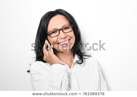 Director talking on phone on white background Stock photo © photography33