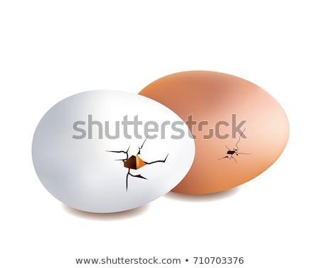 cracked eggs and sandwich Stock photo © ozaiachin