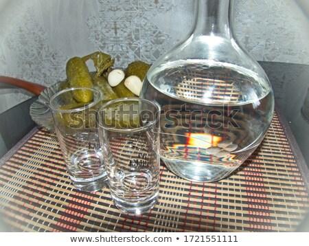стекла водка изолированный белый таблице Сток-фото © Givaga
