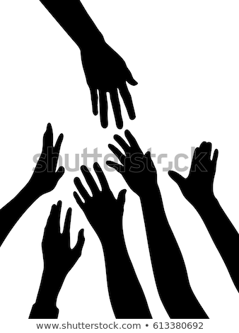 Silhouette of a hand Stock photo © photography33